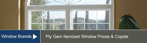 ply gem windows price list costs