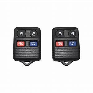 Pair New Replacement Remote Keyless Entry Key Clicker- 4 Button for Ford Mustang - Walmart.com