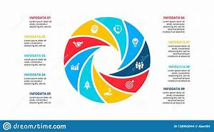 Circle Element For Infographic With 9 Options  Parts Or
