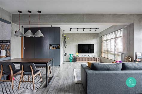 Grey Living Room Hdb by 4 Room Hdb Designs That Aren T Your Cookie Cutter Home 99 Co