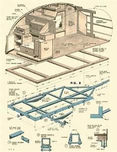 Vintage Teardrop Trailer Campers Chuck Wagon Plans
