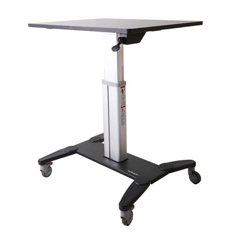 mobile sit stand desk startech com mobile sit stand workstation