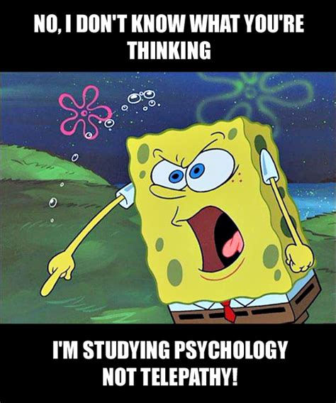 Meme Psychology - angry spongebob meme the psychology student version for more psychology humor visit www