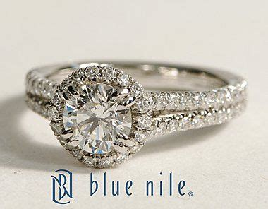 halo diamond engagement ring in platinum bluenile halo