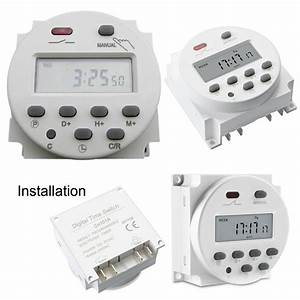 Digital Time Switch Electronic Timer Lcd Display Power