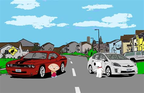 Stewie Crashes Brian S Car by Family Hd Wallpaper And Background Image