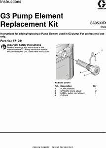 Graco 3a0533d G3 Pump Element Replacement Kit Users Manual