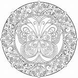 Mandala Coloring Relaxing Printable Adult Abstract Complex Pdf Butterfly Mandalas Sheets Advanced Pattern Mandal Animals Getcolorings Getdrawings Colouring Simple Complicated sketch template
