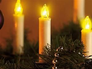 Led Weihnachtsbeleuchtung Kabellos : led weihnachtsbaumkerzen mit fernbedienung 10 stk ~ Markanthonyermac.com Haus und Dekorationen