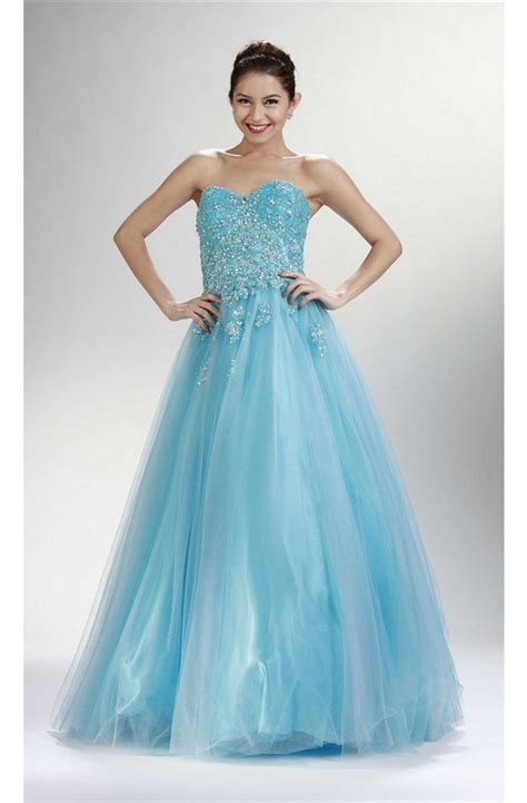 light blue tulle dress a line strapless light sky blue tulle lace beaded