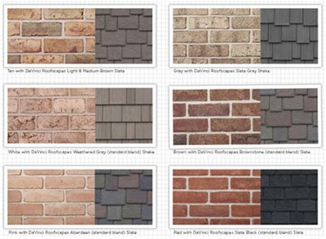 exterior house color schemes with brick