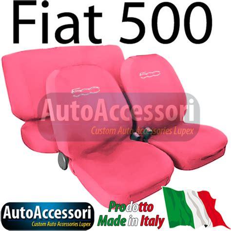 housses de siege couverture couleur unie pour fiat 500 avec logo ebay