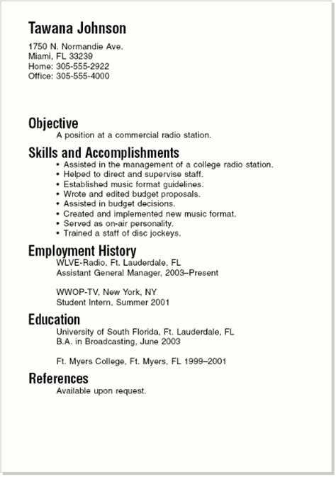 resume template for college student looking for summer sle resumes for college student and graduate http jobresumesle 285 sle resumes