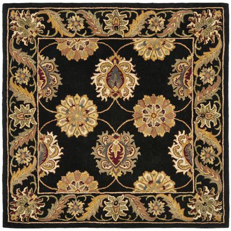 safavieh wool rug safavieh tufted heritage black wool area rugs