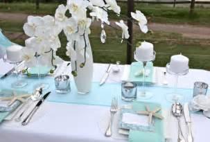idees deco mariage décoration de table mariage bleue thème mer mariage idées