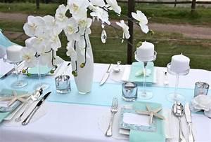 Mariage Theme Mer : d coration de table mariage bleue th me mer mariage id es ~ Nature-et-papiers.com Idées de Décoration