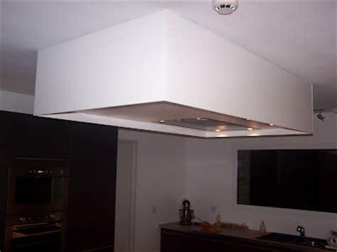 caisson ilot cuisine de vincent demaret encastrement dans un faux plafond