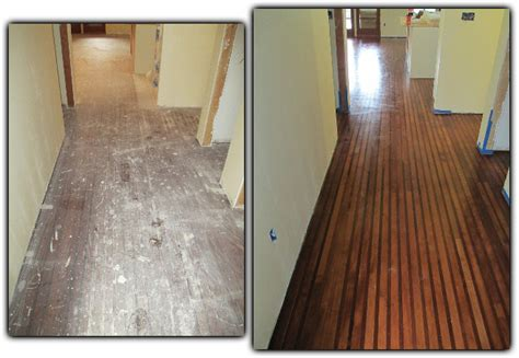before and after hardwood floor refinishing davis ca