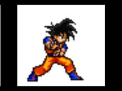 goku sprite kamehameha animation youtube