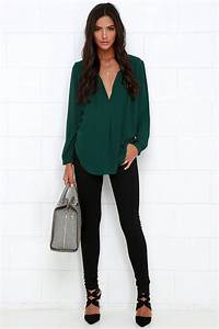 17 Best ideas about Green Tops on Pinterest | Green shirt Green top outfit and Green cardigan