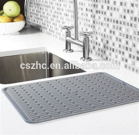 kitchen sink drying mats kitchen countertop silicone sink drying mat buy silicone