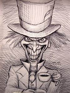 The Mad Hatter (pen sketch) by myconius on DeviantArt