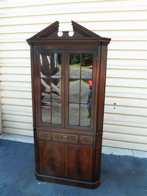 antique mahogany curio cabinet 50337 antique baker furniture mahogany corner china 4113