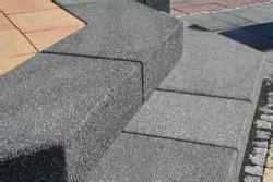 handlauf für gartentreppe granitstufen garten bauunternehmen