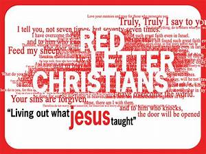 the gallery for gt words of jesus in red With red letter words of jesus