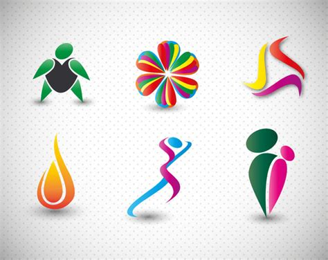 Abstract Shapes Free Vector by Logo Design Elements In Colorful Abstract Shapes Free