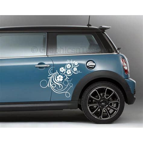 bmw mini car sticker side decal flower car sticker