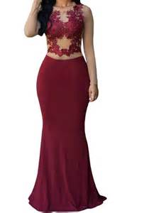burgundy lace bridesmaid dresses sale cheap chiffon lace sleeve burgundy prom dresses gown 2016 formal evening dress