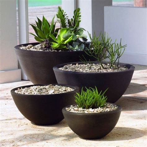 Outdoor Pots And Planters by Large Black Flower Pots For Modern Home Decoration