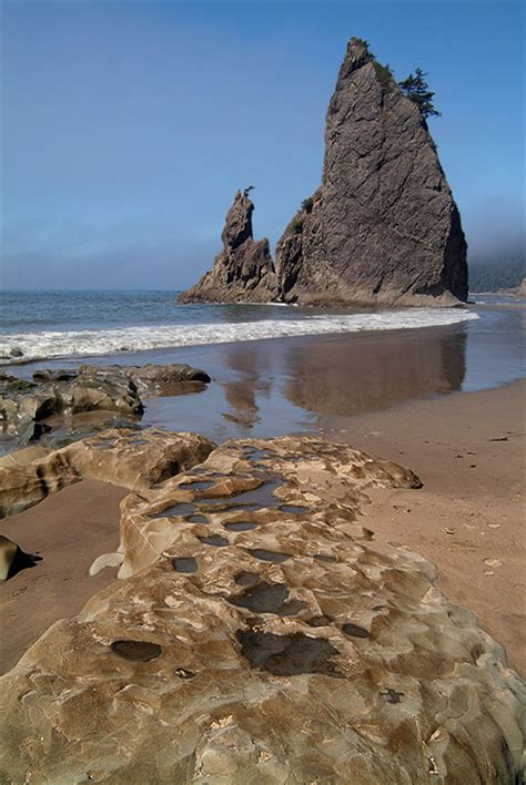 rialto beach   tide olympic national park wa usa