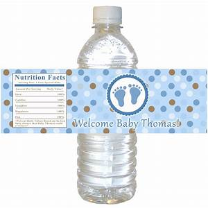 printable personalized baby feet treads water bottle by With custom mini water bottle labels