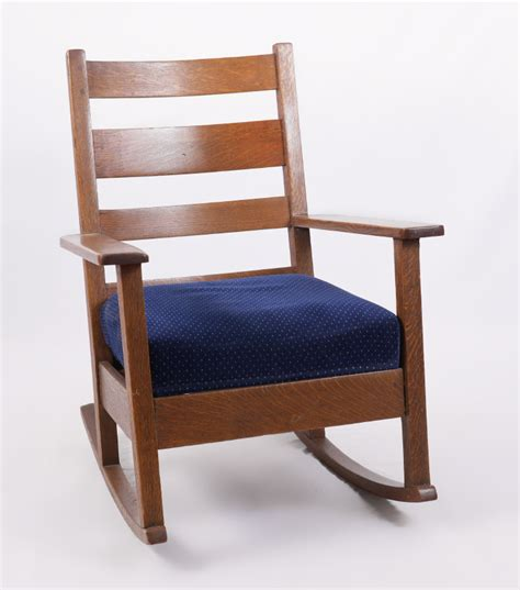 charles stickley arts and crafts rocker