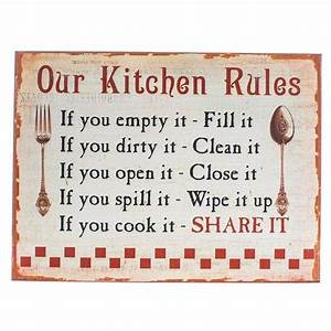 Our Kitchen Rules' Sign - The Place for Homes