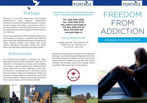 portage ontario drug addiction rehabilitation  youth