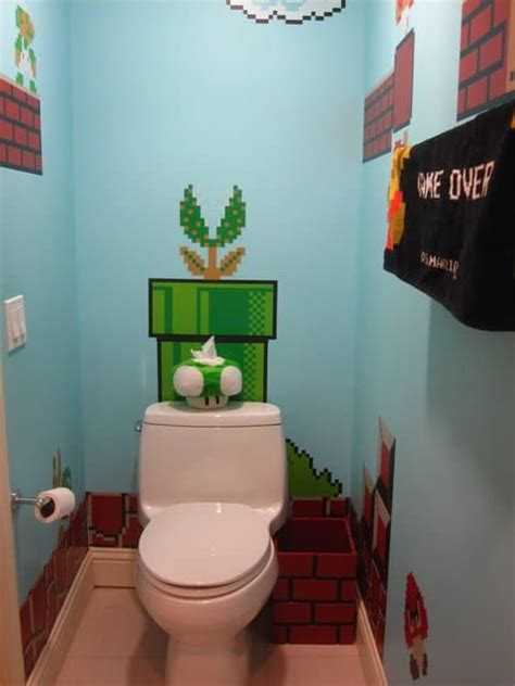 super mario bathroom expect  stay   extensive