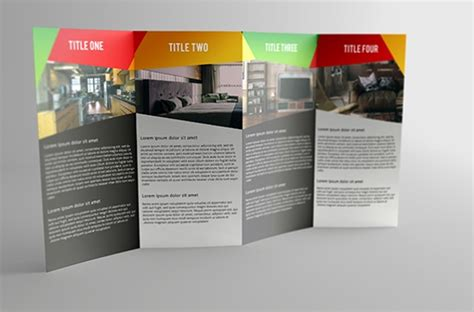 gate fold brochure mockups sample templates