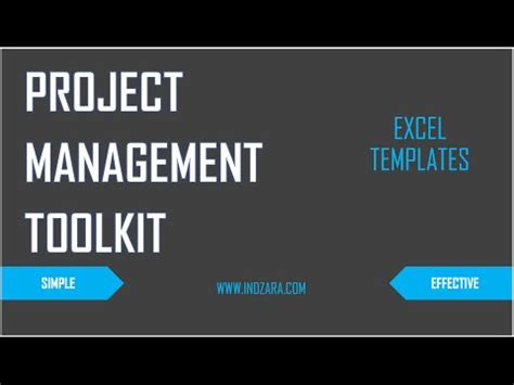 project management toolkit excel templates