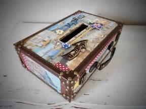 vendue valise urne de mariage thème voyage bagagerie par mosamu déco - Mariage Theme Voyage