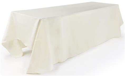 tablecloth for 8 foot rectangular table rectangular tablecloth 132 quot ivory linen