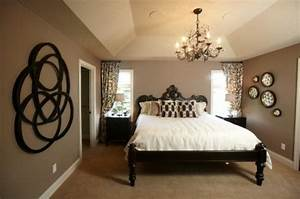 Brown, Taupe, Black, Bedroom