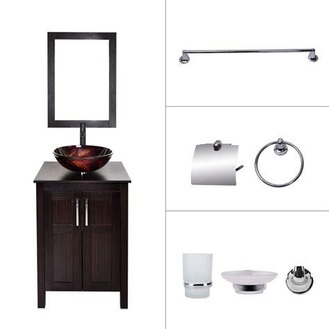 bathroom sink and cabinet combo bathroom vanity cabinet 24 39 39 vessel sink faucet mirror