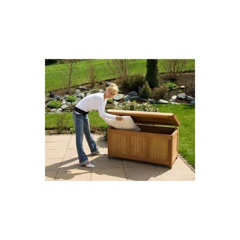 ustensiles de cuisine professionnel banc coffre de rangement jardin extérieur en bois avec coussin