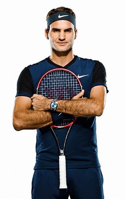 Federer Roger Tennis Transparent Profile Player Series