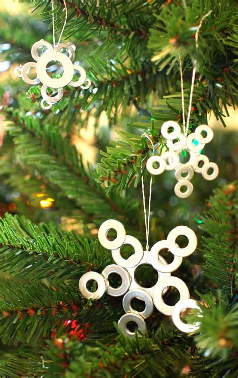 how to make small cute ornaments diy ornaments made from washers diycandy