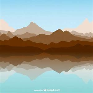 Mountain and lake template landscape Vector | Free Download