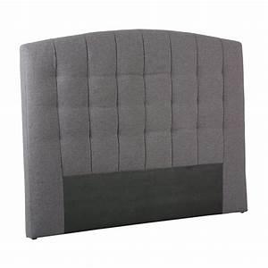 Tete De Lit 160 Cm : t te de lit tissu gris marion univers de chambre tousmesmeubles ~ Teatrodelosmanantiales.com Idées de Décoration